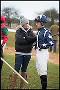 ZARA PHILLIPS; TOM DAVID, The Heythrop Hunt Point to Point. Cockle barrow. 25 January 2015