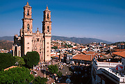 MEXICO, COLONIAL CITIES Taxco; Santa Prisa Cathedral