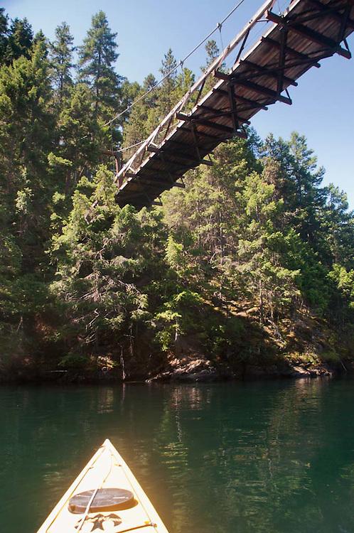Suspension Foot Bridge Over Devil's Gulch, Ross Lake National Recreation Area, North Cascades National Park, Washington, US