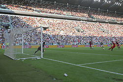 August 19, 2017 - Turin, Piedmont, Italy - Gianluigi Buffon (Juventus FC) saves the penalty of Diego Farias (Cagliari Calcio) during the Serie A football match between Juventus FC and Cagliari Calcio at Allianz Stadium on august 19, 2017 in Turin, Italy. (Credit Image: © Massimiliano Ferraro/NurPhoto via ZUMA Press)