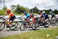 Liane Lippert (GER) and Alicia Gonzalez (ESP) at Stage 2 of 2019 OVO Women's Tour, a 62.5 km road race starting and finishing in the Kent Cyclopark in Gravesend, United Kingdom on June 11, 2019. Photo by Sean Robinson/velofocus.com