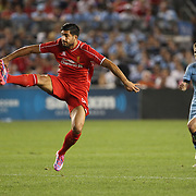 Emre Can, Liverpool, in action during the Manchester City Vs Liverpool FC Guinness International Champions Cup match at Yankee Stadium, The Bronx, New York, USA. 30th July 2014. Photo Tim Clayton
