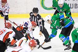 Faceoff during ice hockey match between HK SZ Olimpija and HDD SIJ Acroni Jesenice in AHL - Alps Hockey League 2017/18, on October 25, 2017 in Hala Tivoli, Ljubljana, Slovenia. Photo by Matic Klansek Velej / Sportida