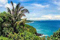 Nusa Tenggara, West Lombok. The west coast of Lombok looking south towards Senggigi