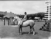 03/08/1960<br /> 08/03/1960<br /> 03 August 1960<br /> R.D.S Horse Show Dublin (Wednesday). A young horseman poses for the camera at the Dublin Horse Show.