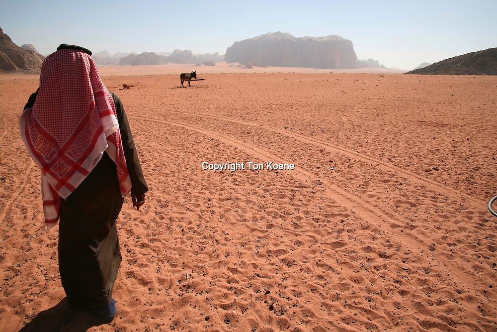 Bedouin in  the Wadi Rum dessert, Jordan