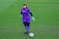 BIRKENHEAD, ENGLAND - Easter Sunday, April 4, 2021: Liverpool's goalkeeper Rachel Laws during the FA Women's Championship game between Liverpool FC Women and Lewes FC Women at Prenton Park. (Pic by David Rawcliffe/Propaganda)