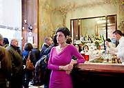 Milan, itlay, Helene Nonini, problem solving, at the Camparino bar in the centre of Milan.