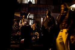 People celebrate Day of the Dead in the cemetary of San Gregorio de Atlapulco on the outskirts of Mexico City.