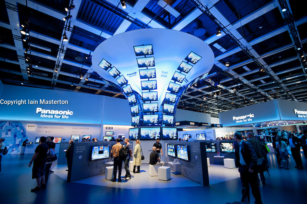 Panasonic stand at IFA consumer electronics trade fair in Berlin Germany 2011