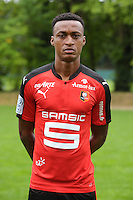 Edson Mexer of Rennes during the presentation of the Stade Rennais Team on September 12, 2016 in Rennes, France. (Photo by Andre Ferreira/Icon Sport)