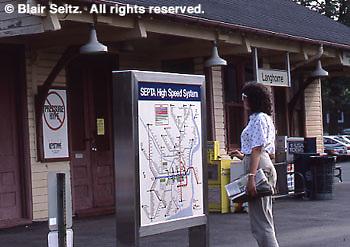 Amtrak Train Station, Septa Station, Langhorne, PA, Philadelphia Main Line