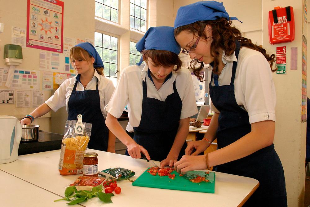 Hockerill Anglo-European College, UK. Food technology class