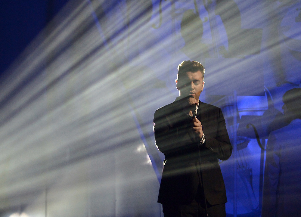 Brit awards 2015 at 02 arena . Pictured SAM SMITH.Pic Dave Nelson