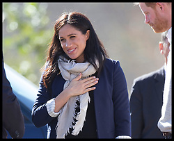 February 24, 2019 - Asni, Morocco - Image Licensed to i-Images Picture Agency. 24/02/2019. Asni, Morocco. Prince Harry and Meghan Markle, The Duke and Duchess of Sussex arriving in Asni on day two of their tour of Morocco. (Credit Image: © Stephen Lock/i-Images via ZUMA Press)