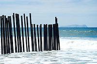 International Border in Ocean, Border Field State Park, California