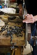 Furniture maker Adrian Swintead working in his Maulden Woods studio, Bedfordshire<br /> CREDIT: Vanessa Berberian for The Wall Street Journal<br /> GURU-SWINSTEAD