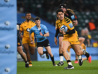 Rugby Union - 2019 / 2020 Gallagher Premiership - Final - Wasps vs Exeter Chiefs - Twickenham<br /> <br /> Wasps' Jacob Umaga scores his sides first try.<br /> <br /> COLORSPORT/ASHLEY WESTERN