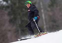 Chief Race Director of the men's Alpine Ski World Cup Guenter Hujara  during the 2nd Run of 7th Men's Giant Slalom - Pokal Vitranc 2013 of FIS Alpine Ski World Cup 2012/2013, on March 9, 2013 in Vitranc, Kranjska Gora, Slovenia. (Photo By Vid Ponikvar / Sportida.com)