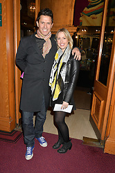 JEREMY EDWARDS and his wife LYDIA at the Cirque Du Soleil's VIP performance of Kooza at The Royal Albert Hall, London on 6th January 2015.