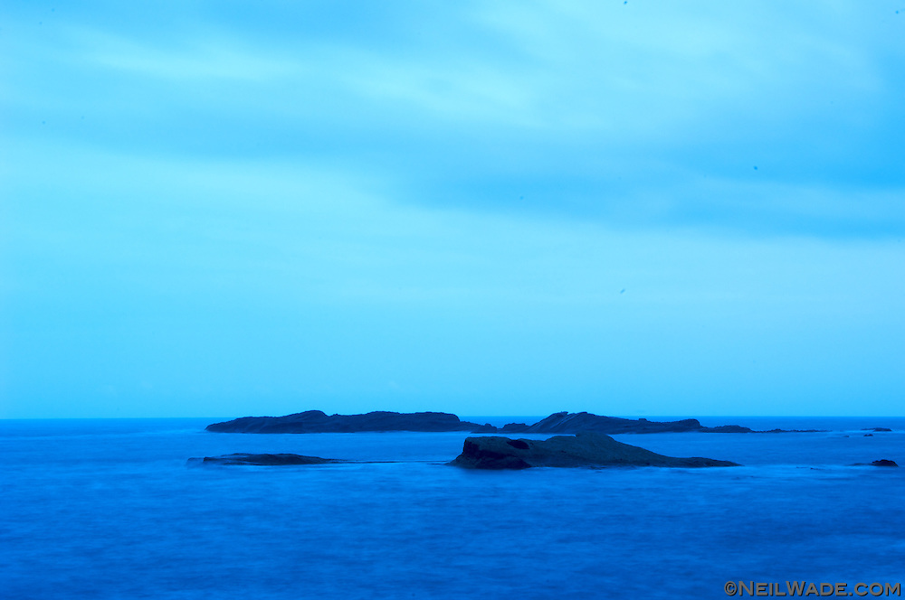 A serene blue sky and ocean await travelers on Taiwan's east coat.