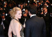 Actress Nicole Kidman and actor Clive Owen in front of press photographers at the Heminway & Gellhorn gala screening at the 65th Cannes Film Festival France. Friday 25th May 2012 in Cannes Film Festival, France.
