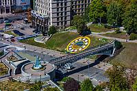 Kiev , Ukraine - August 30, 2019 : Nebesna Sotnya memorial monument in maidan square Landmark of Kiev Ukraine Europe