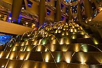 A water fountain in the lobby of the Burj al Arab Hotel, Dubai, United Arab Emirates