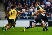 New Zealand centre Jordie Barrett tackles Australia full-back Jack Maddocks during the World Rugby U20 Championship 5rd Place play-off  match Australia U20 -V- New Zealand U20 at The AJ Bell Stadium, Salford, Greater Manchester, England on Saturday, June  25  2016.(Steve Flynn/Image of Sport)