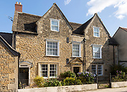 Mulberry Cottage, historic stone buildings, Melksham, Wiltshire, England, UK c 1700 originally detached house