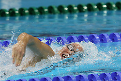 Camille Muffat of France during the women's 200m Freestyle semi-final held at the aquatics centre at Olympic Park  in London as part of the London 2012 Olympics on the 30th July 2012.Photo by Ron Gaunt/SPORTZPICS