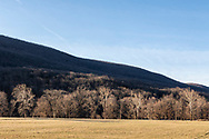 Town of Cornwall, New York - A view of Clove Brook Farm and Schunnemunk Mountain on the morning of April 4, 2019.