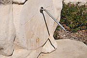 sundial watch at Ramat Hanadiv gardens near Zichron Ya'acov, Mount Carmel, Israel