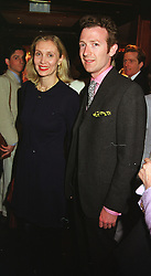 MR & MRS ASHLEY HICKS he is the grandson of the late Earl Mountbatten of Burma, at a party in London on 5th May 1999.MRR 23