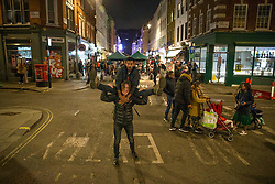 © Licensed to London News Pictures.  02/05/2021. London, UK. Members of the public make the most of Sunday night out in Soho, central London. Photo credit: Marcin Nowak/LNP