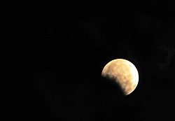 August 8, 2017 - Nannin, Nannin, China - Nanning, CHINA-August 8 2017: (EDITORIAL USE ONLY. CHINA OUT) ..The lunar eclipse can be seen over Nanning, southwest China's Guangxi Zhuang Autonomous Region. (Credit Image: © SIPA Asia via ZUMA Wire)