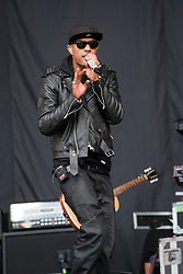 """Richard """"Fazer"""" Rawson of N-Dubz play the main stage..T in the Park on Saturday 9th July 2011. T in the Park 2011 music festival takes place from 7-10th July 2011 in Balado, Fife, Scotland..©Pic : Michael Schofield."""