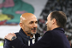 December 9, 2017 - Turin, Italy - Inter coach Luciano Spalletti talks with Juventus coach Massimiliano Allegri during the Serie A football match n.16 JUVENTUS - INTER on  9 December 2017 at the Allianz Stadium in Turin, Italy. (Credit Image: © Matteo Bottanelli/NurPhoto via ZUMA Press)