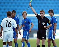 Fotball<br /> Kvalifisering UEFA-Cup 2006/2007<br /> 13.07.2006<br /> FC Lyn Oslo v FC Flora Tallin 1-1<br /> Foto: Morten Olsen, Digitalsport<br /> <br /> Dommer Calum Murray fra Skottland