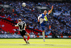Andy Monkhouse of Bristol Rovers shoots over the bar - Photo mandatory by-line: Rogan Thomson/JMP - 07966 386802 - 17/05/2015 - SPORT - FOOTBALL - London, England - Wembley Stadium - Bristol Rovers v Frimsby Town - Vanarama Conference Premier Play-off Final.