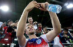 England's Jordan Henderson takes a selfie with fans after winning the FIFA World Cup 2018, round of 16 match at the Spartak Stadium, Moscow.