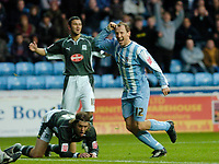 Photo: Leigh Quinnell.<br /> Coventry City v Plymouth Argyle. Coca Cola Championship.<br /> 03/12/2005. Andy Morrell celebrates his goal for Coventry.