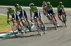 Jan Polanc, Luka Mezgec,  Tadej Pogacar, Jani Brajkovic, Domen Novak of Team Slovenia during Practice session at UCI Road World Championship 2020, on September 25, 2020 in Imola, Italy. Photo by Vid Ponikvar / Sportida