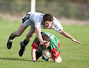 Junior Football Semi-Final at Dunderry_11/10/09: Longwood vs Drumbaragh  . James Colgan (Longwood) & James Connelly (Drumbaragh).Photo: © David Mullen / quirke.ie
