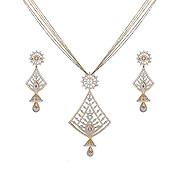 Bhindi Pearl Necklace
