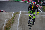 #162 (ZULUAGA MELO Carlos Javier) COL during round 4 of the 2017 UCI BMX  Supercross World Cup in Zolder, Belgium.