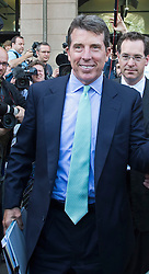 © London News Pictures. 04/07/2012. London, UK. BOB DIAMOND, former CEO of Barclays Bank leaving Portcullis House in London on July 4. 2012 after giving evidence to the Treasury Select Committee. BOB DIAMOND quit his role as Chief Executive of Barclays Bank following an interest rate-setting scandal that led to £290m in fines against the bank.  Photo credit: Ben Cawthra/LNP.