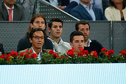 May 6, 2019 - Madrid, MADRID, SPAIN - Alvaro Morata and Filipe Luis of Atletico de Madrid during the Mutua Madrid Open 2019 (ATP Masters 1000 and WTA Premier) tenis tournament at Caja Magica in Madrid, Spain, on May 06, 2019. (Credit Image: © AFP7 via ZUMA Wire)