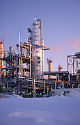 Alaska. Vaccuum unit increases efficiency at an oil refinery by reducing by half the amount of petroleum by-products produced.