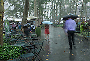 A rainy summer day in Bryant Park.